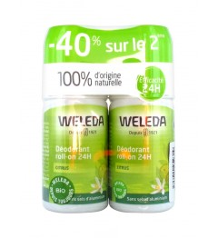Weleda Déodorant 24 Heures Citrus Roll On 2x50Ml