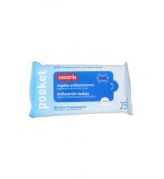 Assanis Lingettes Antibactériennes Mains Paquet de 25