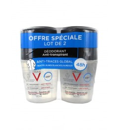 Vichy Homme Déodorant Anti Transpirant 48H Anti Traces 2x50Ml