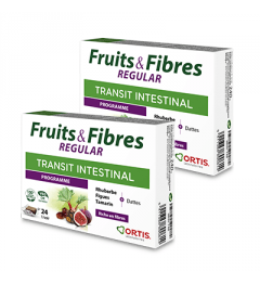 Ortis Fruits et Fibres Regular 2 Boites de 24 Cubes