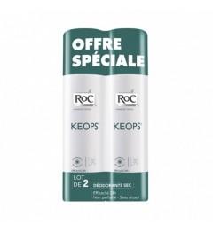 Roc Keops Déodorant Sec Sans Alcool 2x150Ml