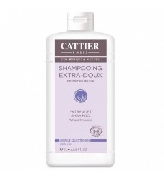 Cattier Shampooing Extra-Doux Usage Quotidien 1 L