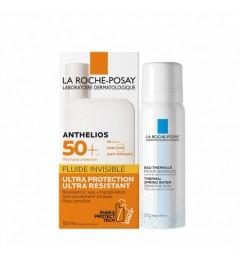 La Roche Posay Anthelios SPF50 Fluide Invisible Avec Parfum 50Ml et Eau Thermale 50Ml