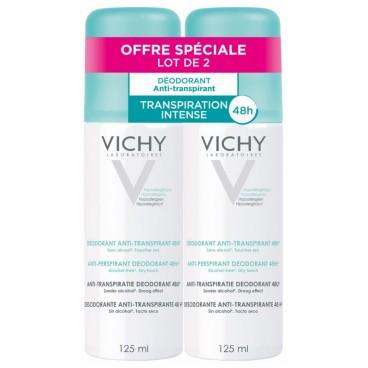 Vichy Déodorant Anti-Transpirant Spray 125ml Lot de 2