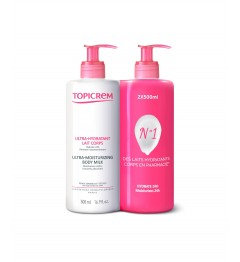 Topicrem Lait Ultra Hydratant Corps 2x500Ml
