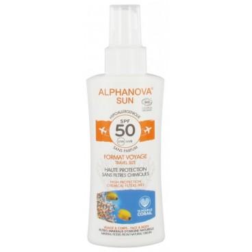 Alphanova Sun Bio SPF50 Spray Voyage 90 Grammes