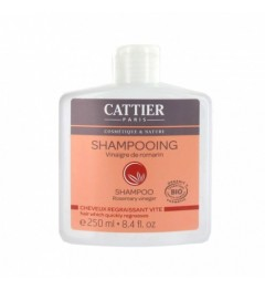 Cattier Shampooing Vinaigre de Romarin Cheveux Regraissant 250Ml