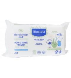 Mustela Lingettes à l'eau Paquet de 60