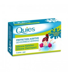 Quies Silicone Natation Protections Auditives Enfants 6 Protections pas cher