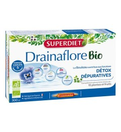 Superdiet Drainaflore Bio 20 Ampoules