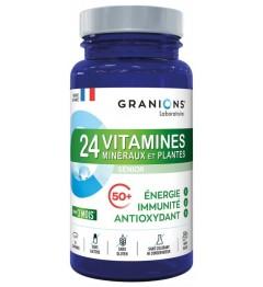 Granions 24 Vitamines Minéraux et Plantes Energie, Immunité et Anti Oxydant 90 Comprimés
