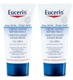 Eucerin Crème Mains très Sèches 5% Urée 2x75Ml pas cher