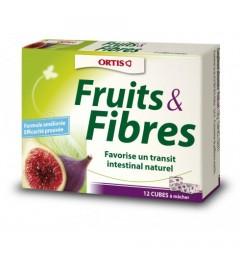 Ortis Fruits et Fibres Boite de 12 cubes pas cher pas cher