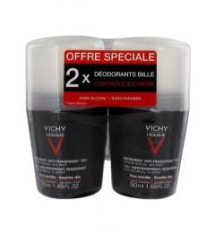 Vichy Homme Déodorant Antitranspirant 2x50Ml pas cher pas cher