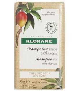 Klorane Shampooing Solide à la Mangue 80 Grammes