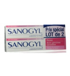 Sanogyl Rose Dentifrice Gencive Sensible 2x75Ml
