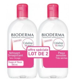 Bioderma Créaline TS H2O Solution Micellaire 2x500 ml, Bioderma pas cher