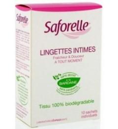 Saforelle Lingettes Hygiène Intime Boite de 10 pas cher