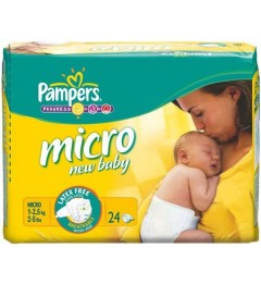 Pampers New Baby Micro 1 à 2,5 Kg 24 Couches pas cher