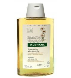 Klorane Shampoing Cheveux Blonds à la Camomille 200ml pas cher pas cher
