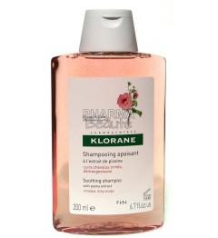 Shampoing Klorane Apaisant à l'Extrait de Pivoine 200ml pas cher