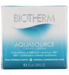 Biotherm Aquasource Crème Peaux Normales et Mixtes 50Ml pas cher