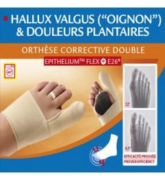 Epitact orthèses correction double hallux valgus droit L