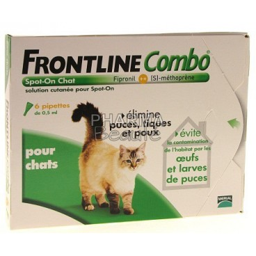Frontline combo spot on chat 6 pipettes pas cher chez - Frontline combo chat 6 pipettes ...