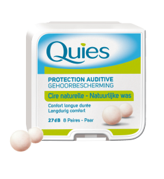 Quies Boules Cire Naturelle Protections Auditives 8 Paires pas cher