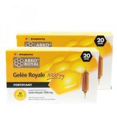 Arko Royal Gelée Royale 1000mg 20 Ampoules Lot de 2 pas cher