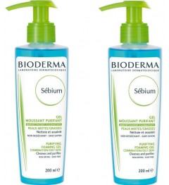 Bioderma Sébium Gel Moussant 200ml Lot de 2