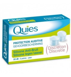 Quies Protection Auditive en Silicone Discrétion 3 Paires pas cher