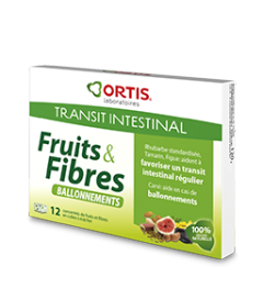 Ortis Fruits et Fibres Ballonnements 12 Cubes pas cher