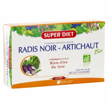 Superdiet Solution Buvable Radis Noir Artichaut 20 Ampoules