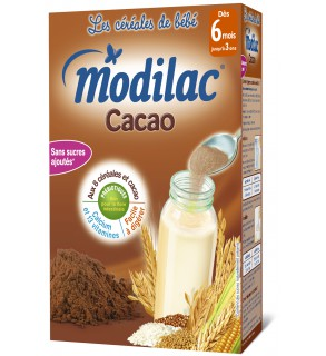 Modilac Céréales Cacao 300 Grammes pas cher