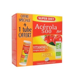 Superdiet Acerola 500 Bio 24 Comprimés + 12 Offerts