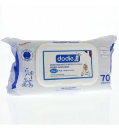 Dodie Lingettes Nettoyantes Douceur 3 en 1 paquet de 70 pas cher