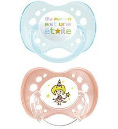 Dodie Sucette Physiologique Silicone Duo Fille +18 Mois P51 pas cher
